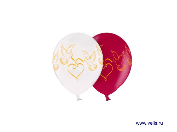 """Свадебные шары Голуби, 11"""", 10шт 1103-0159"""