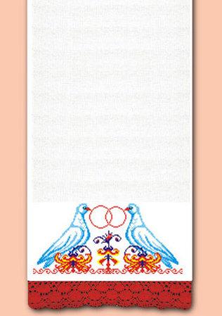 Рушник Голуби, набор для вышивки