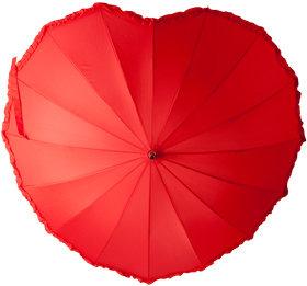 Свадебный зонт 14, красное сердце