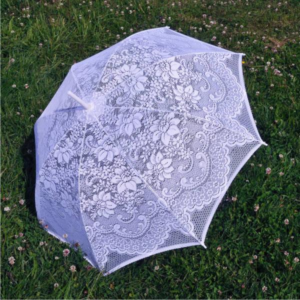 Свадебный зонт 15, кружевной от солнца