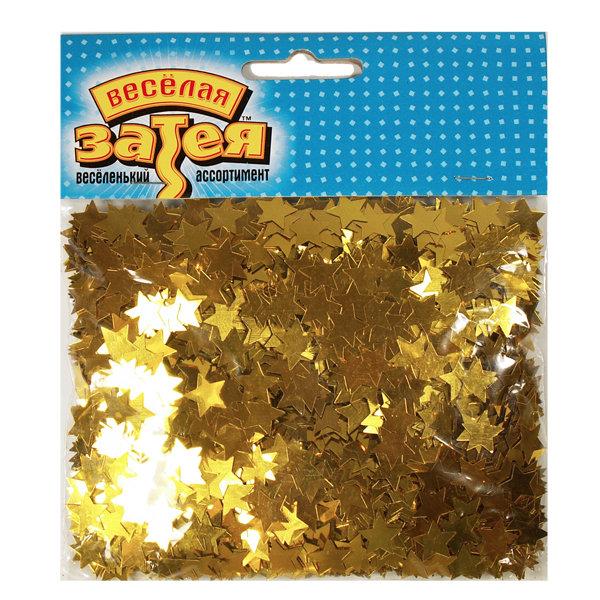 Конфетти Звезды золотые 1501-0220