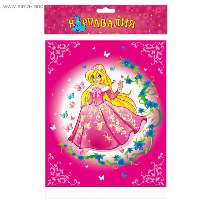 Скатерть для дня рождения, принцесса, 182*137см