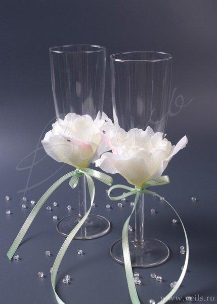 Свадебные бокалы, deco-026