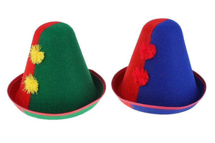 Как сделать клоунскую шапку