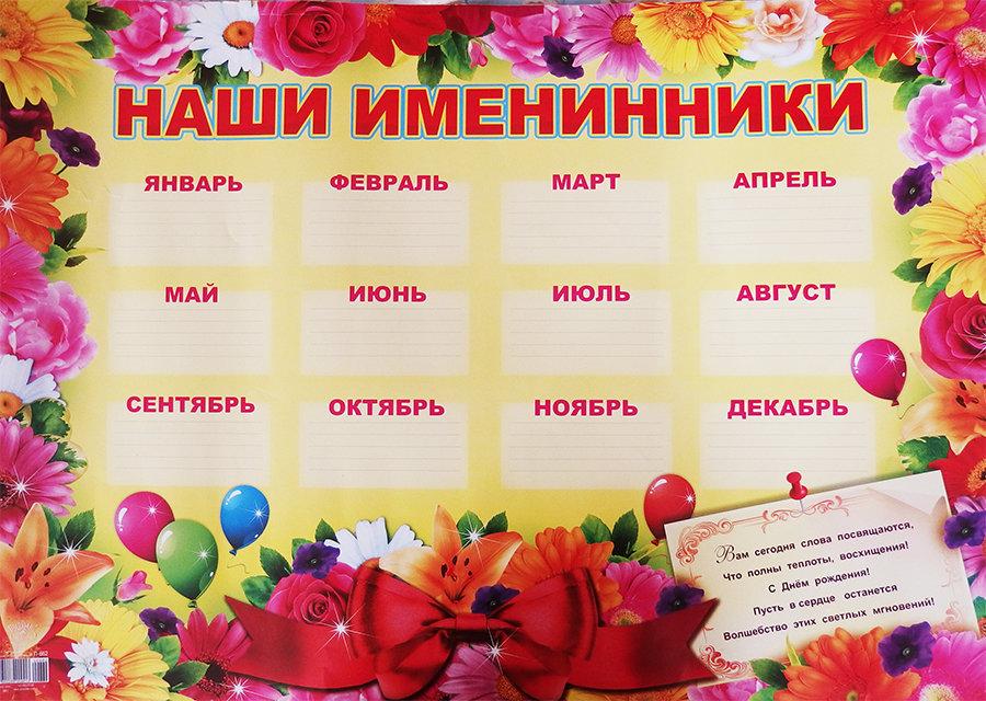 Таблица поздравлений с днем рождения 64