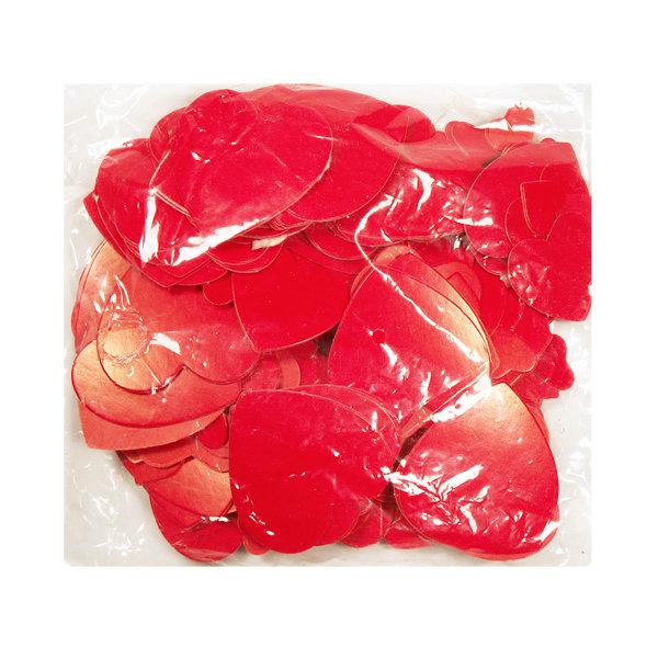 Конфетти, сердца красные, бумага 1501-0178