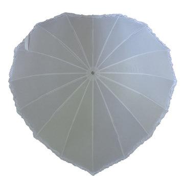 Свадебный зонт 14, белое сердце