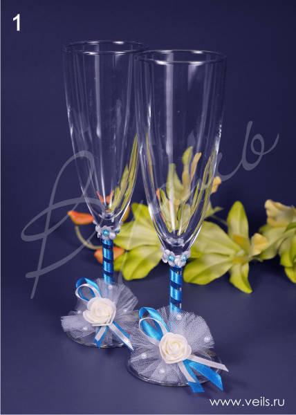 Свадебные бокалы, deco-030