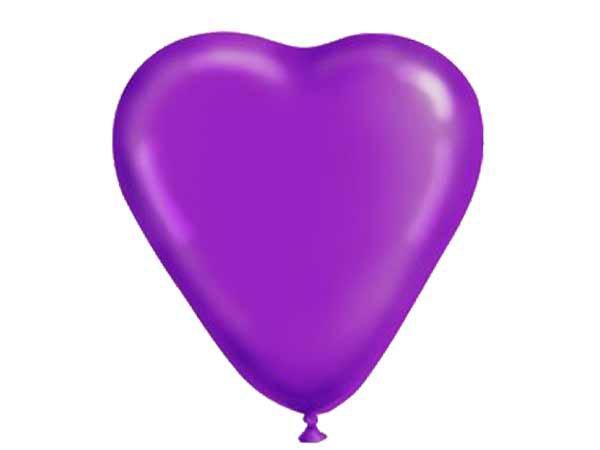 1105-0028 Набор шаров 10шт, фиолетовые сердца, 10шт
