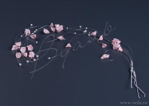 Протяжки 35см(3) для волос, розовый