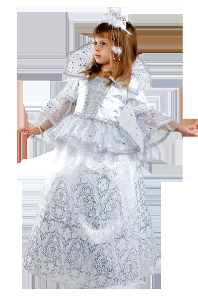 Новогодний костюм снежной королевы для девочки своими руками