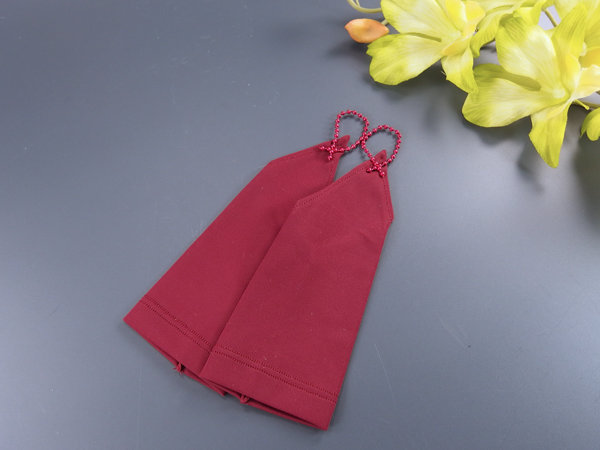 Митенки детские №1 гладкие 15см, цвет бордо