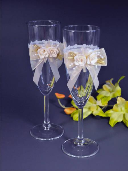 Свадебные бокалы deco-703, Sw-Розалин