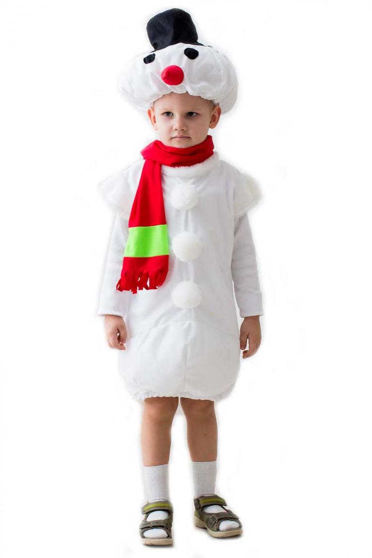 Как сшить костюм снеговика для мальчика