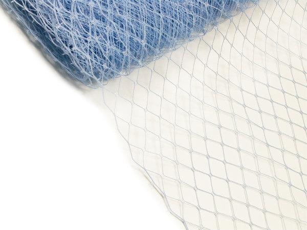 Сетка вуаль 25 см голубая