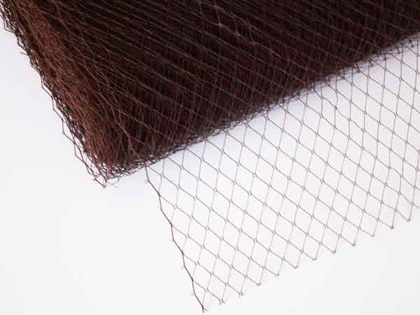 Сетка вуаль 25 см коричневая