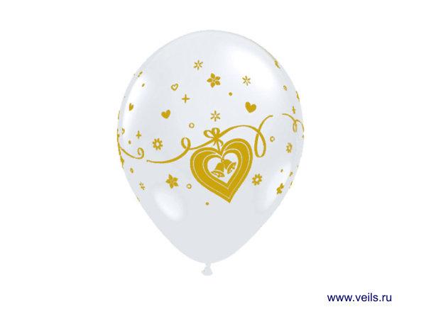 """Набор шаров 1103-5000 11"""", 10шт. Колокольчик в сердце"""