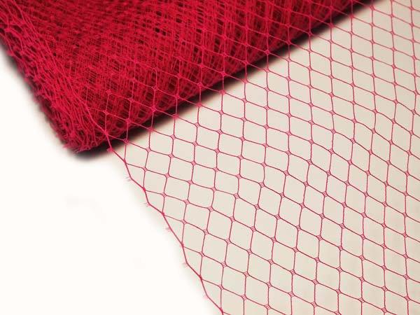 Сетка вуаль 25 см красная