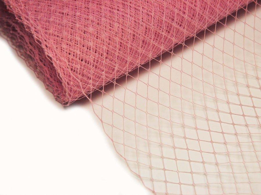Сетка вуаль 25 см розовая