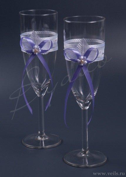 Свадебные бокалы, deco-029