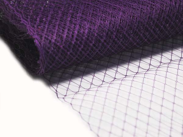 Сетка вуаль 25 см фиолетовая