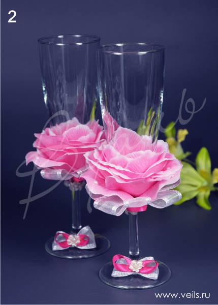 Свадебные бокалы, deco-022