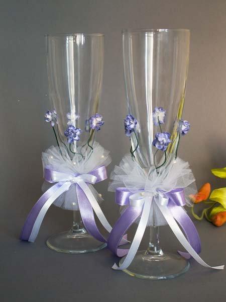 Свадебные бокалы, deco-501