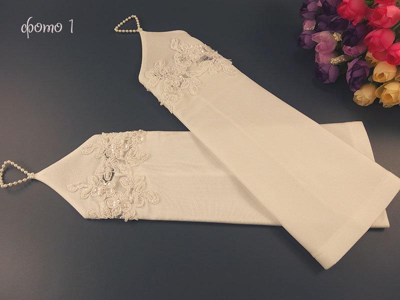 Свадебные митенки 30см белые и молочные
