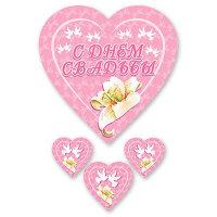 Подвесные сердца С денно свадьбы