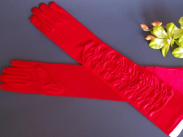 Перчатки №4 блеск 47см, с драпировкой