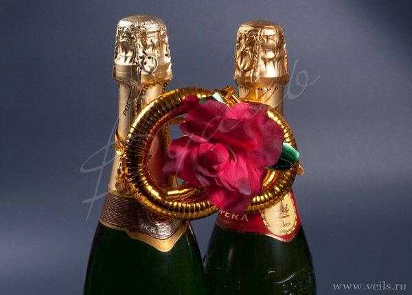 Кольца и сердца для шампанского