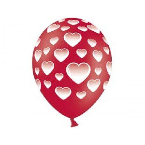 """1103-0836 Свадебные шары красные 14"""", 10шт"""