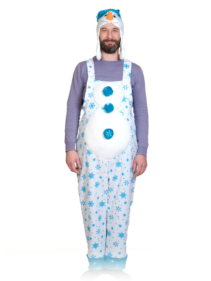 Костюм Снеговика взрослый 1081 - купить в интернет-магазине Вуаль по ... 4a379b4db6005